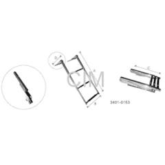 Telescopic Ladder With Sliding Bracket Adjuster