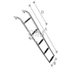 Folding Telescopic Ladder With Distance Holder