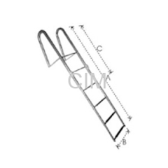 Folding Telescopic Ladder With Hand Rail