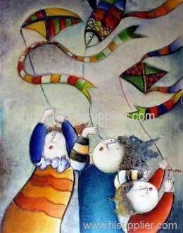children oil painting