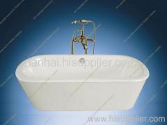 skirt cast iron bath