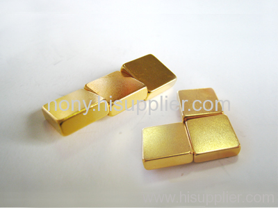 Gold Coated NdFeB Magnet