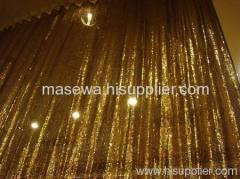 Metallic drape/curtain / divider