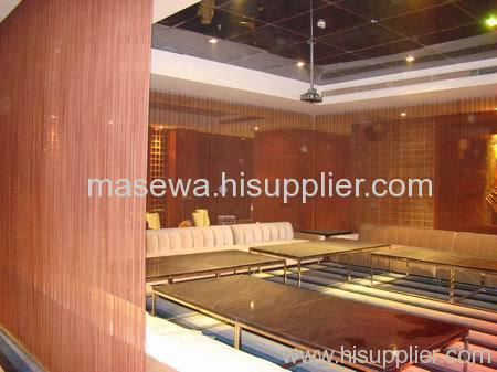 Steel metallic mesh divider