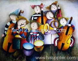 children oil painting