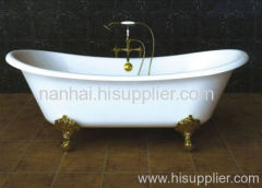 big enameled bathtub