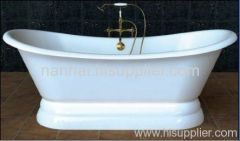 big enamel pedestal bathtub