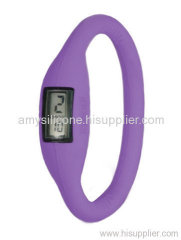 silicone rubber wristband watch