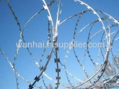 concertina barbed wire coil