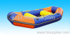 inflatable boat and Zorb ball