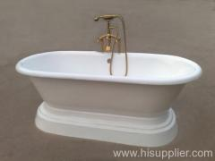 luxury pedestal cast iron bathtub