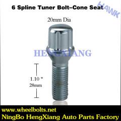 6 Spline Chrome Tuner Bolt