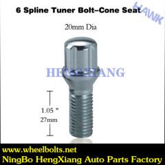 Chrome Spline Tuner Bolts