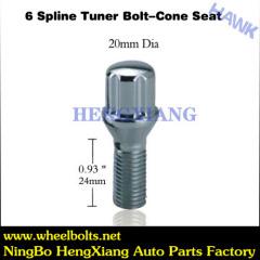 12mm Chrome Spline Tuner Bolt