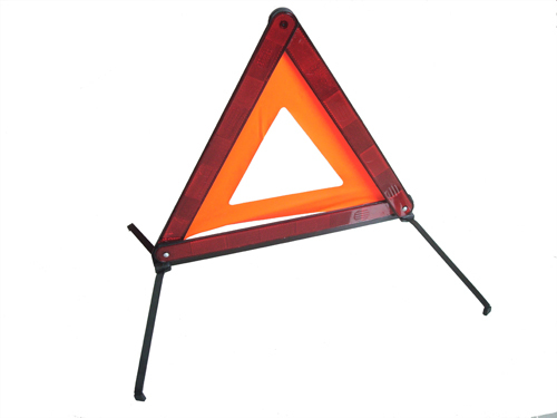 Red Warning triangles