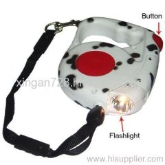 retractable pet leash with LED light
