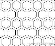 perforated metal hexagon