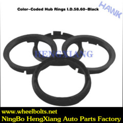 black Color Coded Hub Ring Adapter