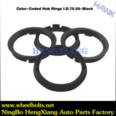Wheel centric hub black rings