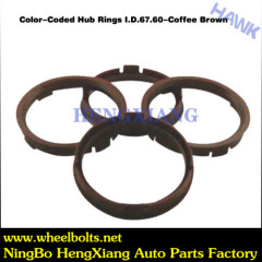 Colors car Coded Hub Ring Adapter