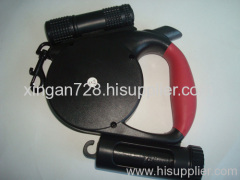 black retractable dog leash
