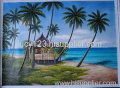 coconut plam oil painting