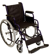 Durable Steel Manual Wheelchair