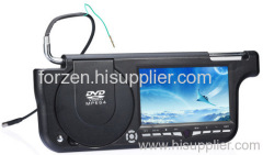 Sun Visor DVD Player with 7-inch LCD Screen and TV System, Supports 8-bit and 32-bit Games