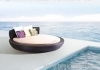 Outdoor wicker furniture round sofa bed