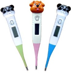cartoon digital thermometers
