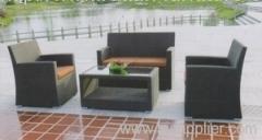 Garden wicker sofa group