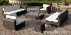 Garden wicker sofa group furniture