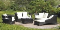 Garden wicker sofa group from hartsun