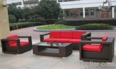 Outdoor rattan furniture sofa group