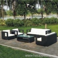Garden furniture wicker sofa