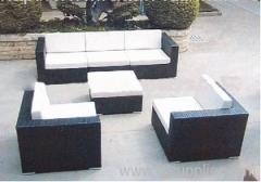 Plastic wicker sofa groups