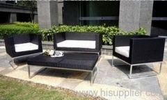 Stainless Steel Wicker Sofa Sets