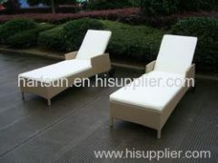 Outdoor PE rattan lounge chair