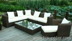 Wicker furniture round rattan sofa