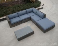 Garden round rattan furniture
