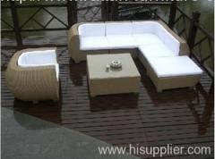 Wicker patio furniture sofa set
