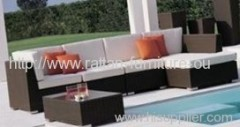 Outdoor high quality wicker sofa set furniture
