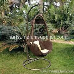 rattan wicker swing bed