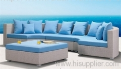 Patio furniture PE rattan sofa set