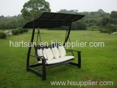 Rattan wicker swing chair bed