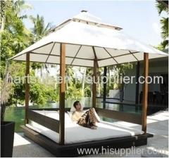 PE rattan sun lounge