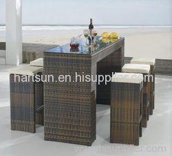 outdoor rattan bar stool