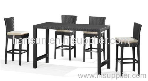 outdoor wicker bar stool