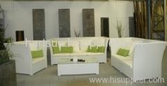 Garden wicker furniture sofa sets