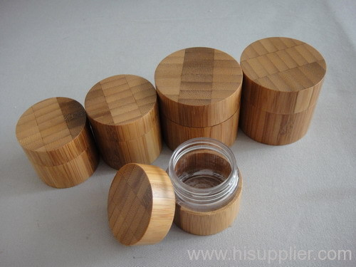 bamboo cream jars, cream containers, cosmetic jars DSC05909